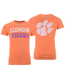 Retro Brand Men's Clemson Tigers Team Stacked Dual Blend T-Shirt