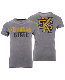 Retro Brand Men's Kennesaw State Owls Team Stacked Dual Blend T-Shirt