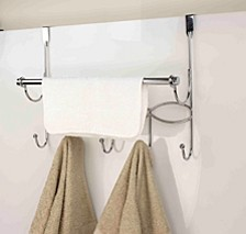 Chrome Plated Steel Over the Door with Towel Bar