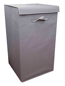 Home Basics 600D Polyester Laundry Hamper