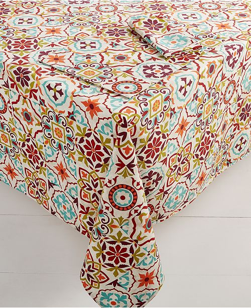 Fiesta Worn Tiles Table Linens Collection