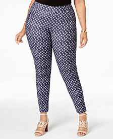 MICHAEL Michael Kors Plus Size Batik-Print Leggings