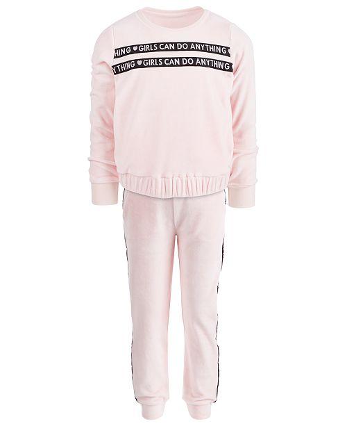 d529d0c2 Ideology Toddler Girls Velour Sweatshirt & Sweatpants, Created for Macy's