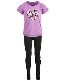 Ideology Toddler Girls Heart Print Graphic T-Shirt & Leggings, Created for Macy's