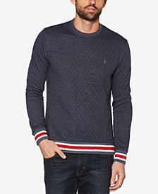 Original Penguin Men's Quilted Double-Knit Sweater