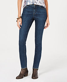 Style & Co Petite Frayed Skinny Jeans, Created for Macy's