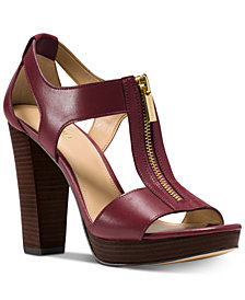 MICHAEL Michael Kors Berkley T-Strap Platform Dress Sandals
