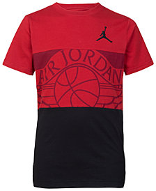 Jordan Big Boys Graphic-Print Colorblocked Cotton T-Shirt