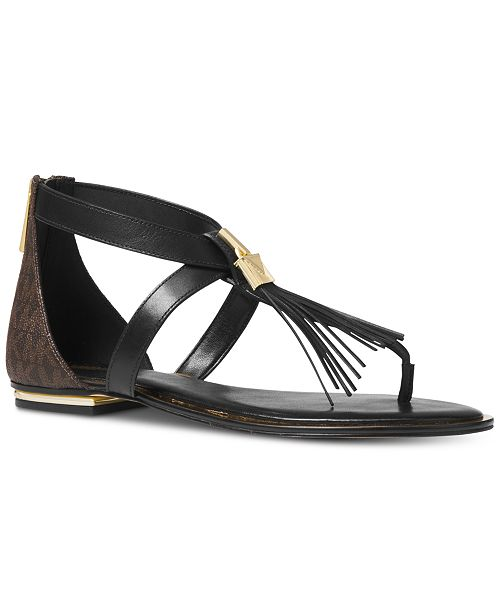 3ea27e669fd7 Michael Kors Winslow Flat Sandals   Reviews - Sandals   Flip Flops ...