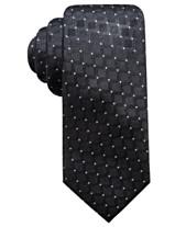 fc667e97ab8a Ryan Seacrest Distinction™ Men's Sovana Grid Slim Silk Tie, Created for  Macy's