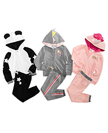 Epic Threads Little Girls Animal Hoodie & Jogger Pants Separates, Created for Macy's