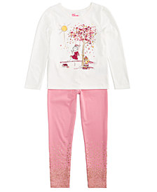 Epic Threads Little Girls Graphic-Print T-Shirt & Leggings, Created for Macy's