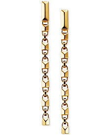 Michael Kors Women's Mercer Link Sterling Silver Drop Earrings