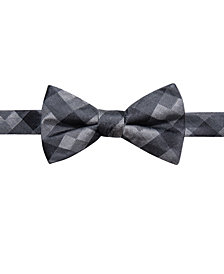 Ryan Seacrest Distinction™ Men's Monte Check Pre-Tied Silk Bow Tie, Created for Macy's