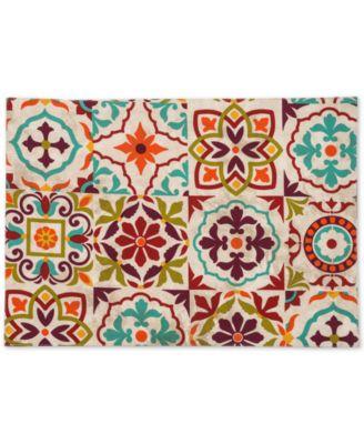 "Worn Tiles  13"" x 19"" Placemat"