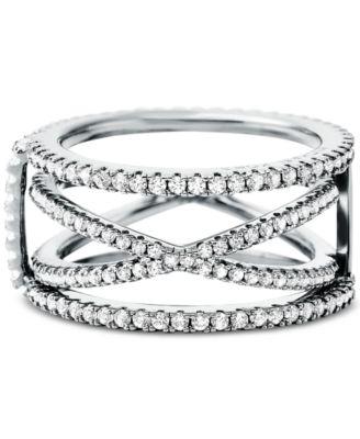Women's Custom Kors Sterling Silver Pavé Nesting Ring Jacket