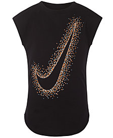 Nike Little Girls Swoosh-Print T-Shirt
