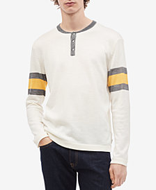 Calvin Klein Men's Engineered Stripe Sweater-Knit Henley