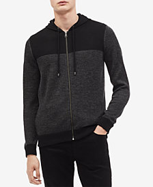 Calvin Klein Men's Full-Zip Colorblocked Hoodie