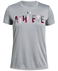 Under Armour Big Girls Athlete-Print T-Shirt