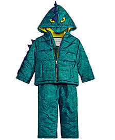 Carter's Little Boys 2-Pc. Printed Dinosaur Snowsuit