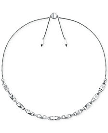 Michael Kors Women's Mercer Link Sterling Silver Slider Necklace