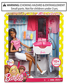 Mattel Barbie Doll & Salon Playset