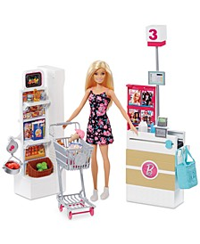 Doll & Supermarket Playset