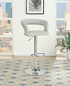 Wide Back Bar Stool, Gray