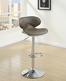 Oval Back Bar Stool, Expresso