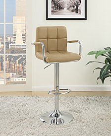 Tufted Bar Stool, Brown