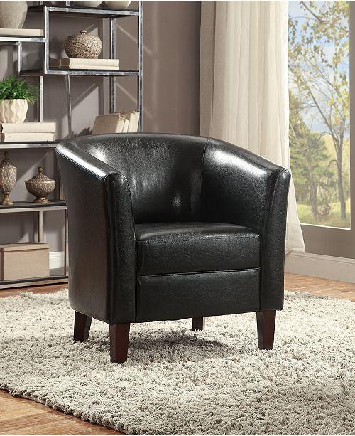 Fine Poundex Faux Leather Club Chair Black Reviews Home Inzonedesignstudio Interior Chair Design Inzonedesignstudiocom
