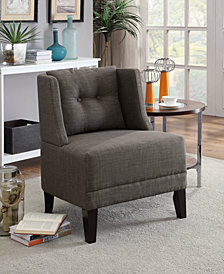 Fabric Side Chair, Ash Black