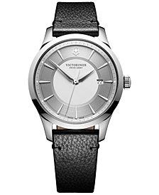 Victorinox Swiss Army Men's Swiss Alliance Black Leather Strap Watch 40mm