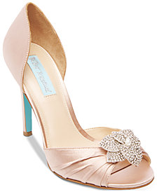 Blue by Betsey Johnson Briar Peep-Toe Pumps