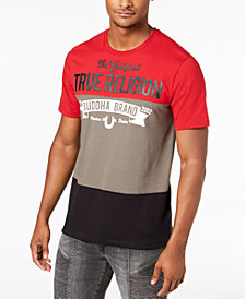True Religion Men's Colorblocked Logo Graphic T-Shirt
