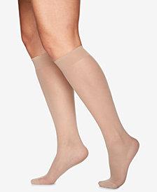 Berkshire Women's  Plus Size Day Sheer Knee Highs Hosiery 6451