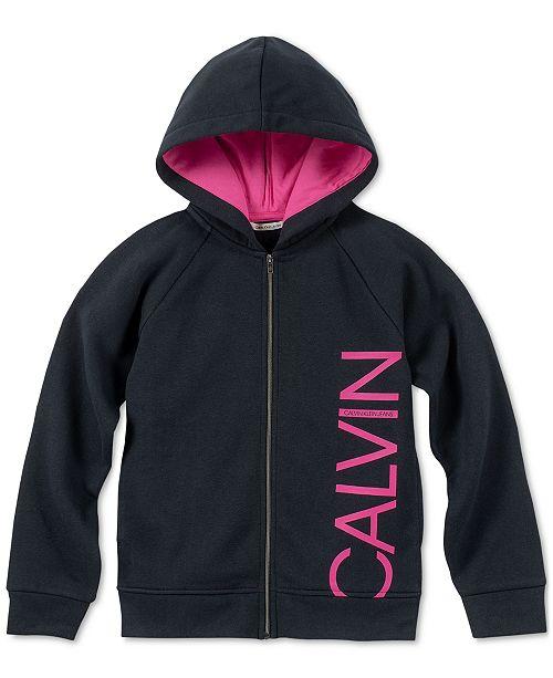Calvin Klein Big Girls Full-Zip Hoodie