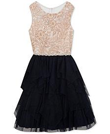 Rare Editions Big Girls Sequin Bodice Dress