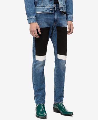 Calvin Klein Jeans Men's Slim-Fit Blocked Patches Jeans