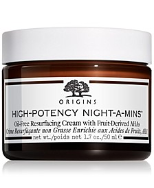 High-Potency Night-A-Mins Oil-Free Resurfacing Cream with Fruit Derived AHAs, 1.7-oz.