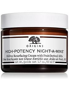 Origins High-Potency Night-A-Mins Oil-Free Resurfacing Cream, 1.7-oz.