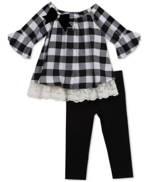 Rare Editions Baby Girls 2Pc CheckPrint Tunic  Leggings Set
