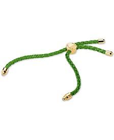 Michael Kors Women's Custom Kors Sterling Silver and Silk Interchangable Bracelet Cord
