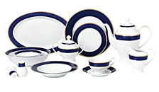 Lorren Home Trends Midnight 57-Pc. Dinnerware Set, Service for 8