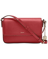 875aedb905f84 DKNY Saffiano Leather Bryant Flap Crossbody