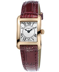 Women's Swiss Carree Red Patent Leather Strap Watch 23x21mm