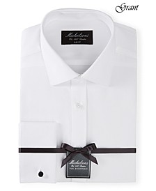 of London Men's Slim-Fit Solid French Cuff Tuxedo Shirt