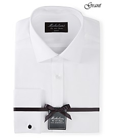 Michelsons of London Men's Slim-Fit Solid French Cuff Tuxedo Shirt