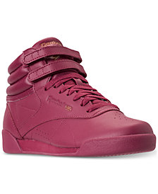 Reebok Girls' Freestyle High Top Casual Sneakers from Finish Line